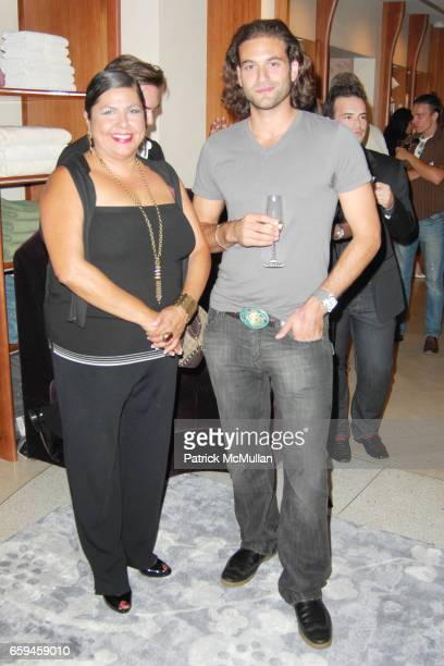 Diana Mendez and Alexander Purcell attend FRETTE Beverly Hills Designer Event at FRETTE on September 10 2009 in Beverly Hills California