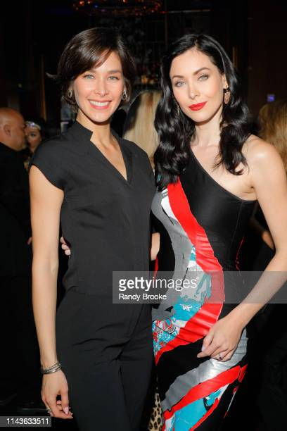 Diana Mendoza and Natalie Glebova attend the NYC Book Launch For Andres Pira's Homeless To Billionaire at Ascent Lounge on April 18 2019 in New York...