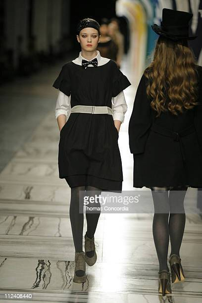 Diana Moldovan wearing 3.1 Phillip Lim Fall 2007 during Mercedes-Benz Fashion Week Fall 2007 - 3.1 Phillip Lim - Runway at Waterfront Building in New...