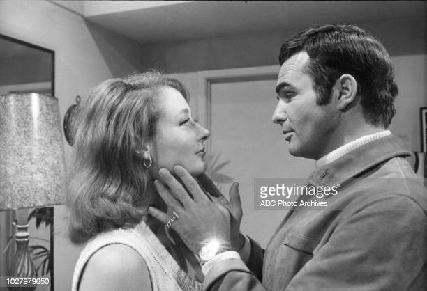 Diana Muldaur Burt Reynolds appearing in 'Dan August' 'Murder By Proxy' Airdate September 23 1970