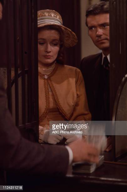 Diana Muldaur Pete Duel appearing in the Walt Disney Television via Getty Images series 'Alias Smith and Jones' episode 'The Great Shell Game'