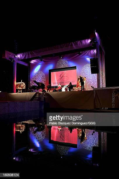 Diana Navarro performs live on stage during the Global Gift Gala held to raise benefits for Cesare Scariolo Foundation and Eva Longoria Foundation on...