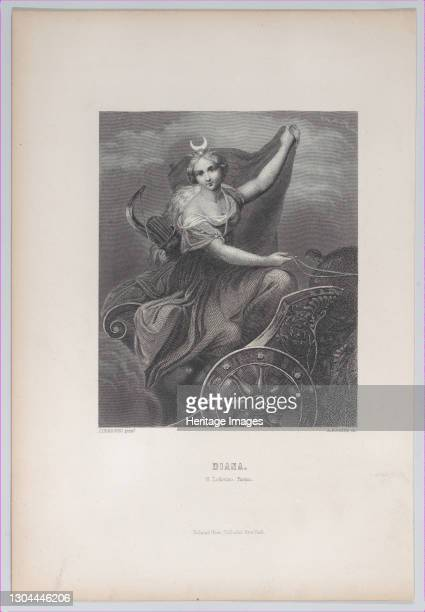 Diana on her chariot, 1832-1902. Artist Albert Henry Payne.