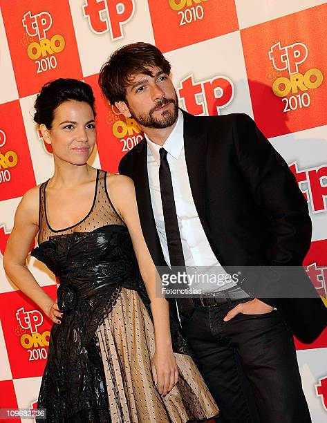 Diana Palazon and Felix Gomez arrive to the 'TP de Oro' Awards 2011 ceremony at the Teatro del Canal on February 28 2011 in Madrid Spain