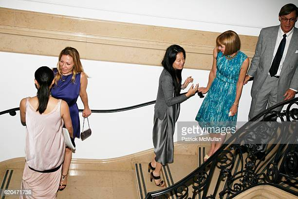 Diana Picasso Vera Wang Anna Wintour and Shelby Bryan attend Cocktail Reception in Honor of TOMMY HILFIGER and DEE OCLEPPO'S Engagement Hosted by MR...
