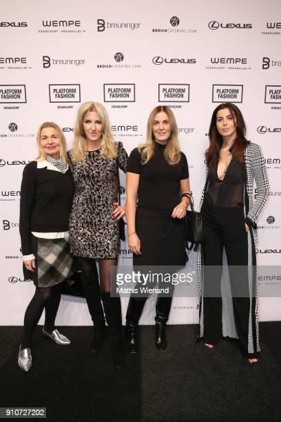 Diana Pistalu Birgit Hammelmann Susanne Lixfeld and Michaela Sassenbach attend the Breuninger show during Platform Fashion January 2018 at Areal...