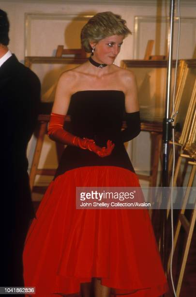 Diana, Princess of Wales, America's Cup Ball, 19th September 1986.