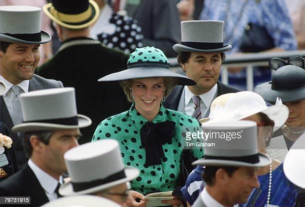 Diana, Princess of Wales among the crowd at Royal Ascot Races
