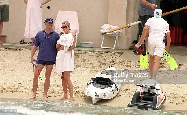 Diana Princess Of Wales and her bodyguard Trevor ReeseJones are seen in St Tropez in the summer of 1997 shortly before Diana and boyfriend Dodi were...