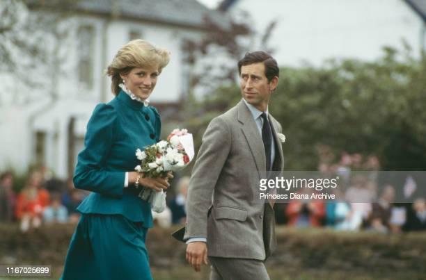 Diana, Princess of Wales and Prince Charles at St Columb Major in Cornwall, May 1983.