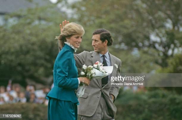 Diana Princess of Wales and Prince Charles at St Columb Major in Cornwall May 1983