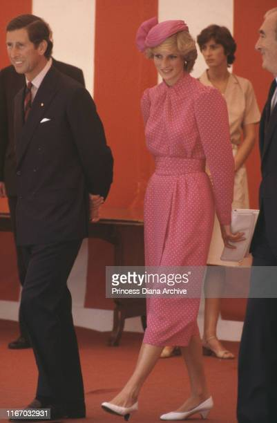 Diana Princess of Wales and Prince Charles attend the Sunshine Coach Lunch for the Variety Club of Great Britain New Bus Appeal at the Guildhall in...