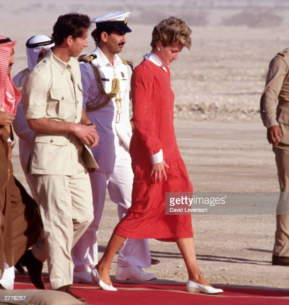 Diana Princess of Wales and Prince Charles on November 14 1986 in Qatar during the Royal Tour of the Gulf States