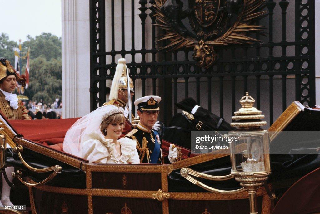 Wedding of Prince Charles and Princess Diana : News Photo