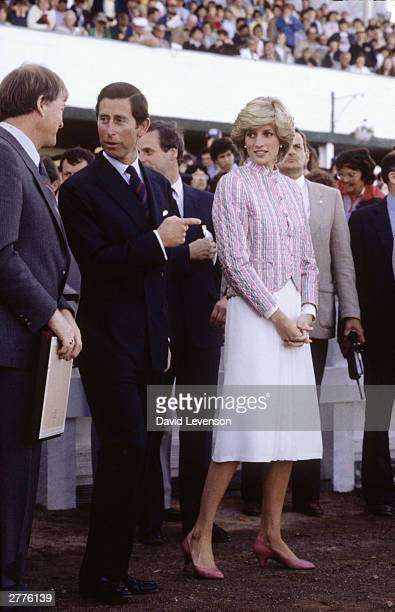 Diana Princess of Wales and Prince Charles visit Charlottetown Driving Park to watch track races on June 28 1983 They were visiting Charlottetown...