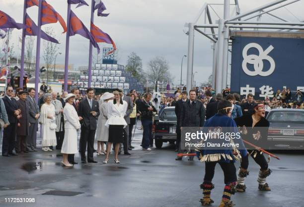 Diana, Princess of Wales and Prince Charles visit the Expo 86 World's Fair in Vancouver during a visit to Canada, May 1986.