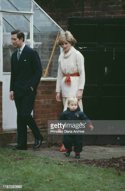 Diana Princess of Wales and Prince Charles with their son Prince William during a photocall at Kensington Palace in London 14th December 1983