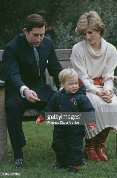 Diana, Princess of Wales and Prince Charles with their son Prince William during a photocall at Kensington Palace in London, 14th December 1983.