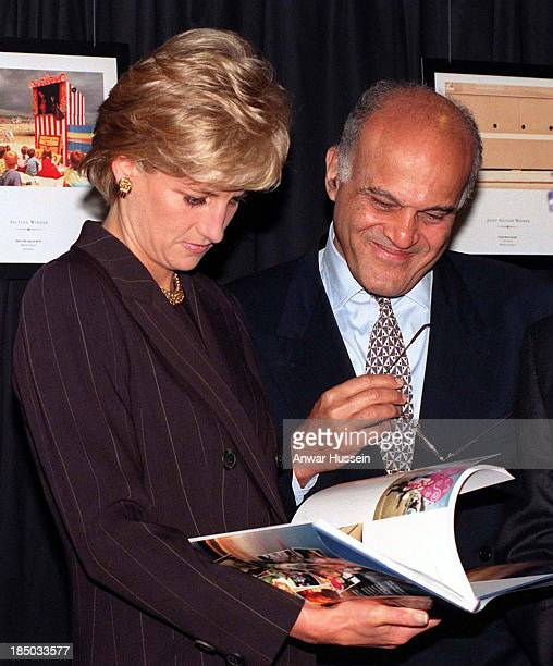 Diana Princess of Wales and world renowned heart surgeon Professor Sir Magdi Yacoub at the Royal Brompton Hospital's launch of Heart of Britain which...