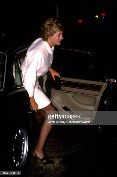 Diana, Princess of Wales, arrives at Christie's, 24th May 1995.