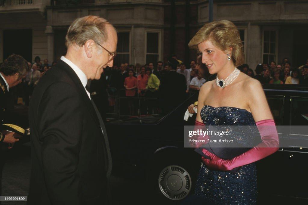 Diana At Claridge's : News Photo