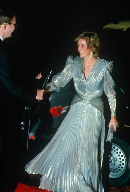 Diana Princess of Wales arrives at the Grosvenor House Hotel in ...