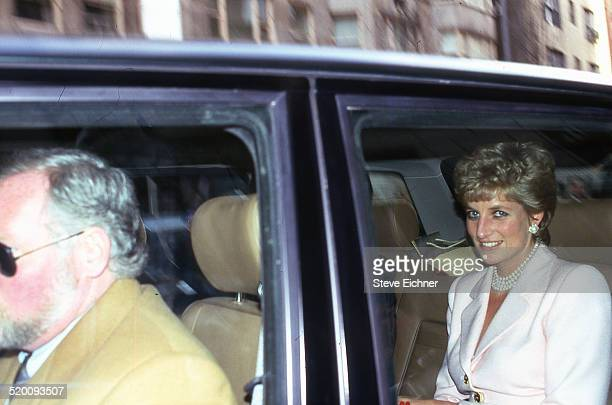 Diana Princess of Wales arrives at the Hearst luncheon New York New York January 30 1995