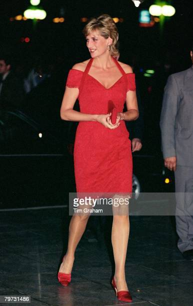 Diana Princess of Wales arrives for dinner in Argentina