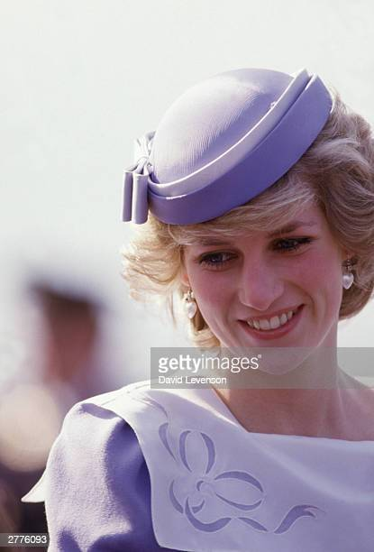 Diana Princess of Wales arrives in Sardinia in April 1985 at the beginning of the Royal Tour of Italy