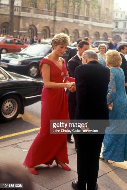 Diana Princess of Wales Arriving at Banqueting House London 3rd July 1991