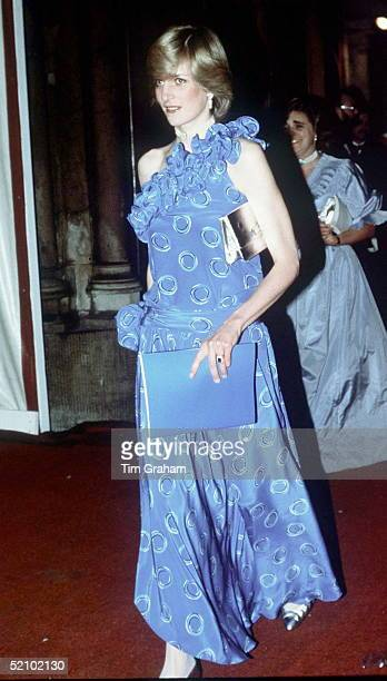 Diana Princess Of Wales Arriving At The Guildhall For A Fashion Show In Aid Of The Charity birthright Ladyinwaiting Anne Beckwithsmith Accompanies...