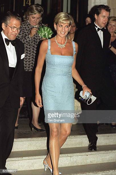 Diana, Princess Of Wales As Patron Of The English National Ballet, Attends Their Royal Gala Performance Of 'swan Lake' At London's Royal Albert Hall....