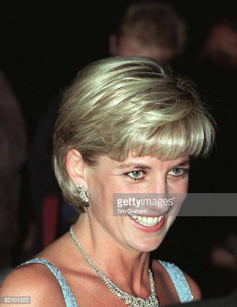 Diana Princess Of Wales As Patron Of The English National Ballet Attends Their Royal Gala Performance Of 'swan Lake' At London's Royal Albert Hall