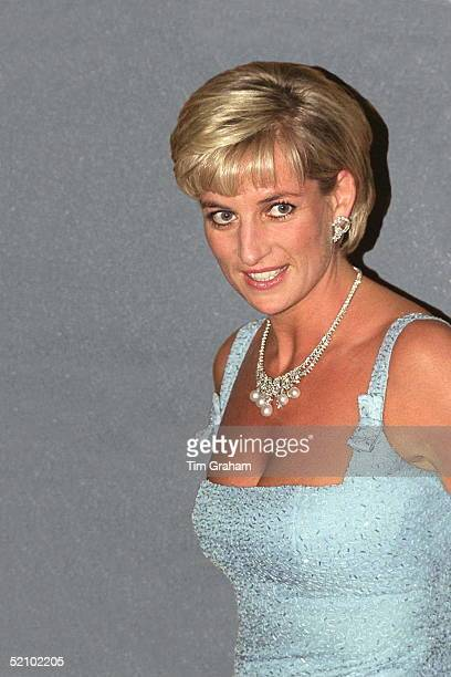 Diana, Princess Of Wales As Patron Of The English National Ballet, Attends Their Royal Gala Performance Of 'swan Lake' At London's Royal Albert Hall...