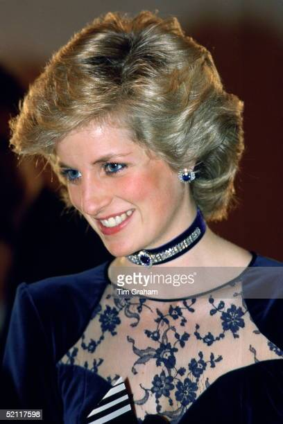Diana Princess Of Wales As Patron Of The Newport International Competition For Young Pianists Attending The Final In Newport Wales