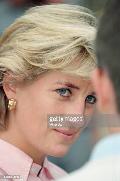 Diana Princess of Wales as she makes a three day visit to Bosnia Herzegovina as part of her campaign to raise awareness about the devastating effects...