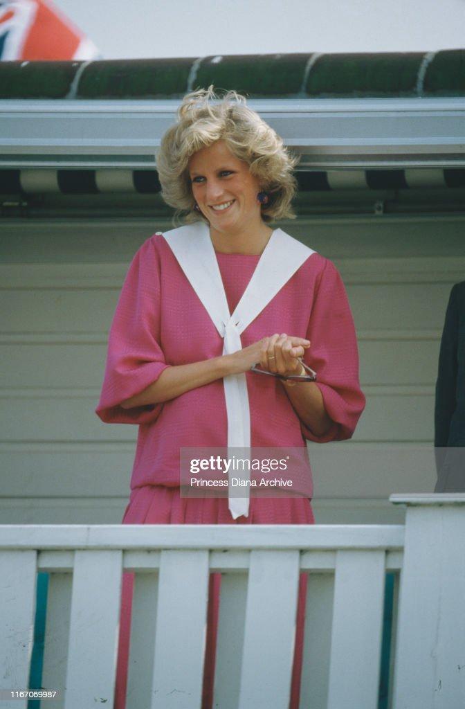 Diana At Windsor : News Photo