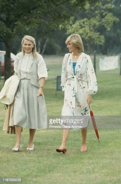 Diana Princess of Wales at a polo match on Smith's Lawn Guards Polo Club Windsor 6th July 1983
