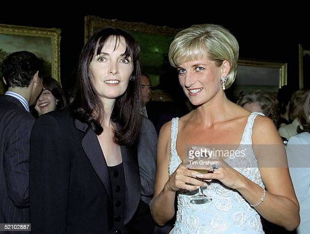 Diana Princess Of Wales At A Private Viewing And Reception At Christies For The Dresses Auction In Aid Of The Aids Crisis Trust And The Royal Marsden...