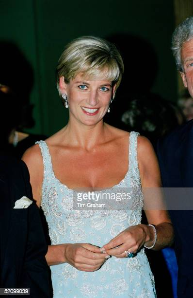 Diana, Princess Of Wales, At A Private Viewing And Reception At Christies In Aid Of The Aids Crisis Trust And The Royal Marsden Hospital Cancer Fund.