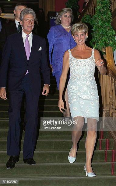 Diana, Princess Of Wales, At A Private Viewing And Reception At Christies In Aid Of The Aids Crisis Trust And The Royal Marsden Hospital Cancer Fund....