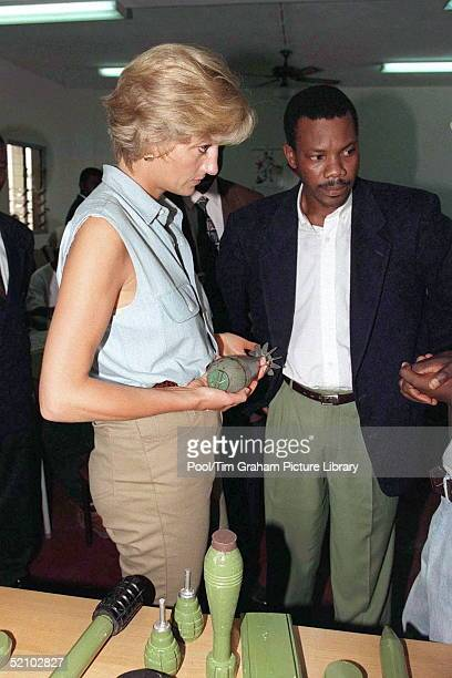 Diana Princess Of Wales At A Red Cross Health Post And Training Centre In Luanda Angola