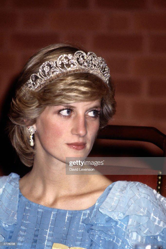 Diana Princess of Wales at a State Dinner in Saint John, New Brunswick : News Photo