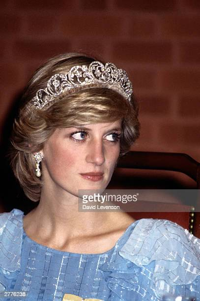 Diana Princess of Wales at a State Dinner on June 17 1983 in Saint John New Brunswick Canada during the Royal Tour of Canada