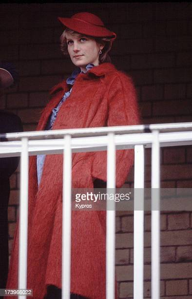 Diana Princess of Wales at Aintree racecourse for the Grand National April 1982