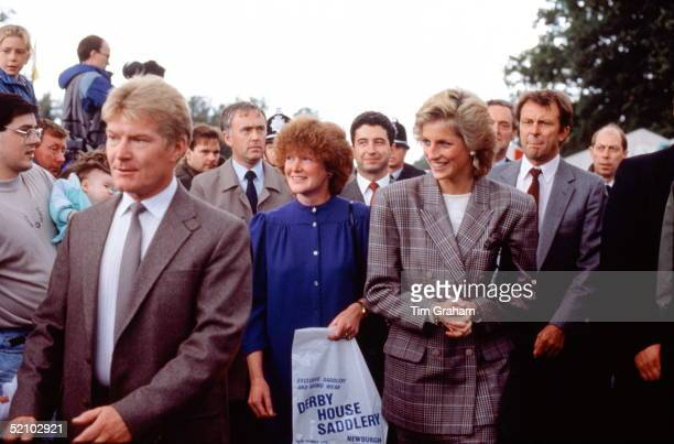 Diana Princess Of Wales At Burghley Horse Trials With Her Sister Sarah Mccorquodale acting As Ladyinwaiting And Members Of Her Staff Including Her...