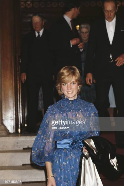 Diana, Princess of Wales at Cardiff in Wales, 29th October 1981. She has just delivered a speech in the Welsh language.