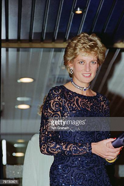 Diana, Princess of Wales at Cardiff International Arena for 'A Concert of Hope', as Patron of Ty Hafan: The Children's Hospice in Wales
