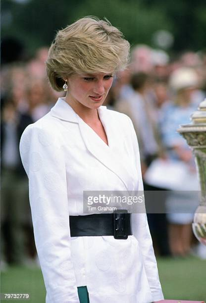 Diana Princess of Wales at Cartier International Polo Guards Polo Club