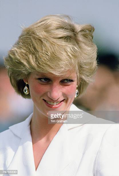 Diana Princess of Wales at Cartier International Polo